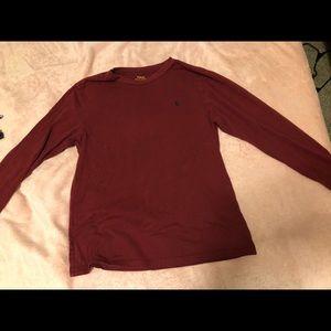 polo long sleeve maroon